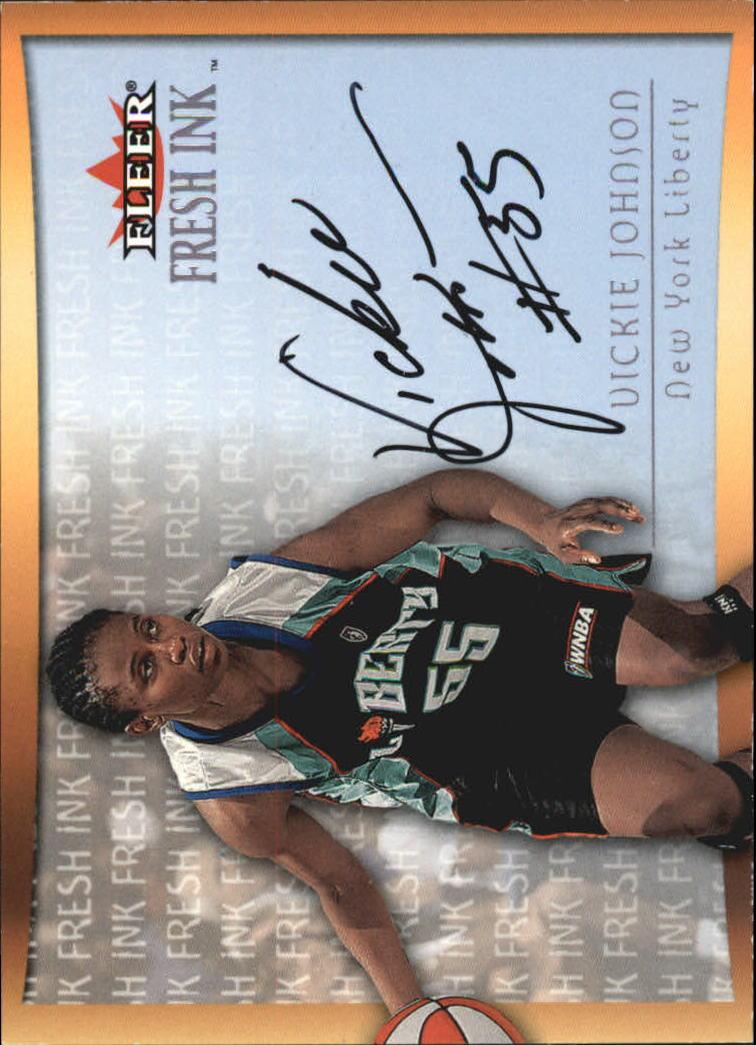 2000 Ultra WNBA Fresh Ink #7 Vickie Johnson