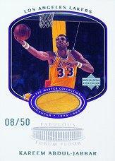 2000 Upper Deck Lakers Master Collection Fabulous Forum Floor Cards #KAF Kareem Abdul-Jabbar