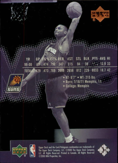 2000-01 Upper Deck Slam #43 Anfernee Hardaway back image