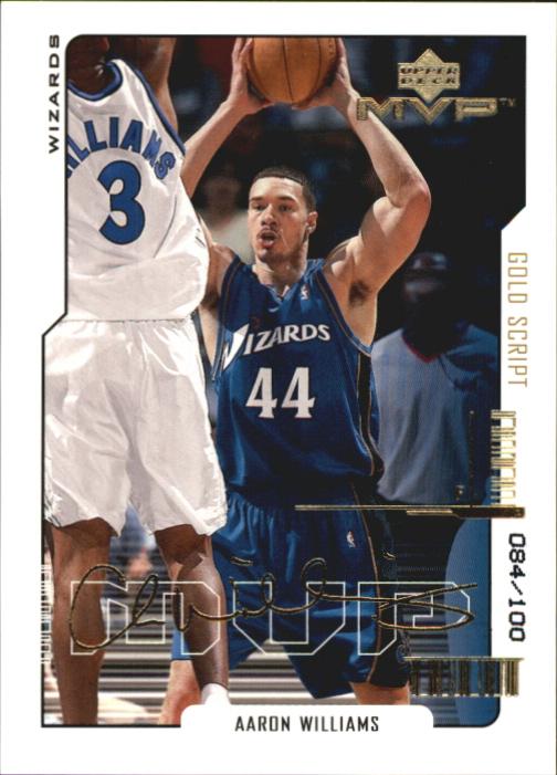 2000-01 Upper Deck MVP Gold Script #186 Aaron Williams