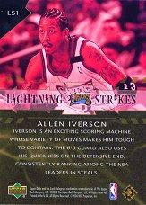 2000-01 Upper Deck Lightning Strikes #LS1 Allen Iverson back image