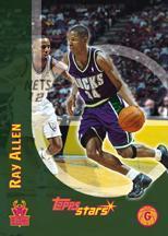 2000-01 Topps Stars Parallel #99 Ray Allen