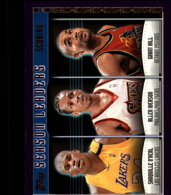 2000-01 Topps #150 Shaquille O'Neal/Allen Iverson/Grant Hill SL