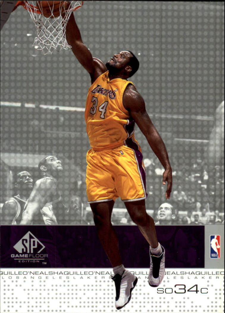 2000-01 SP Game Floor #26 Shaquille O'Neal