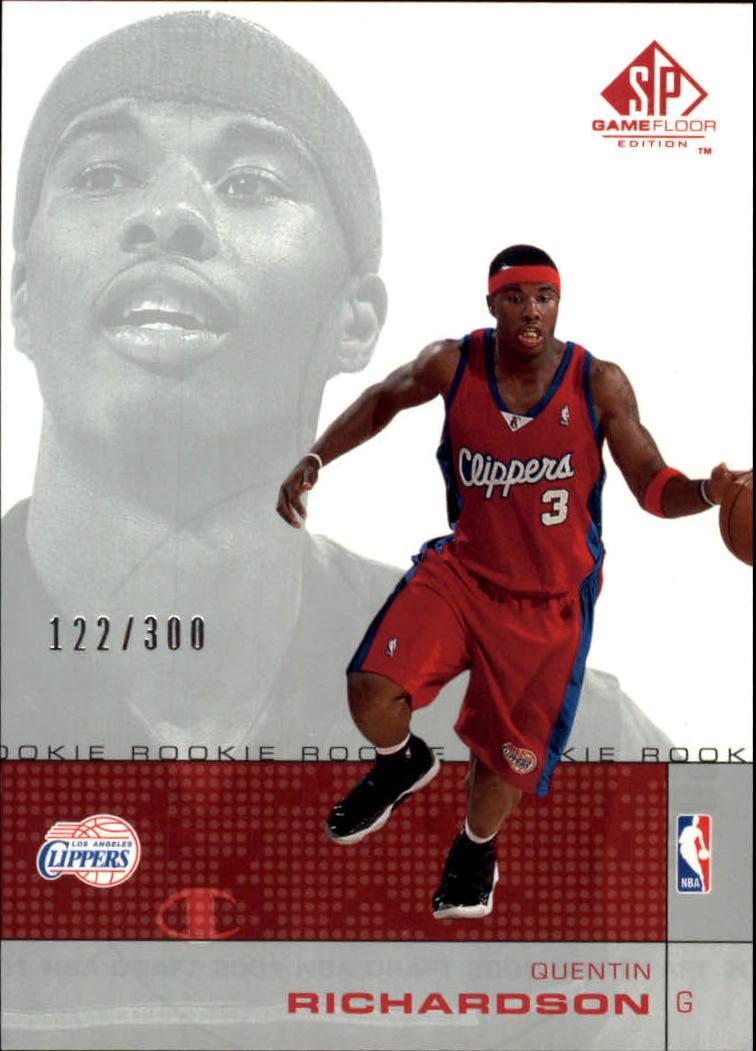 2000-01 SP Game Floor #66 Quentin Richardson RC
