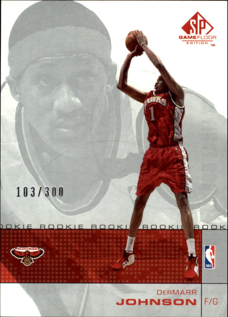 2000-01 SP Game Floor #67 DerMarr Johnson RC