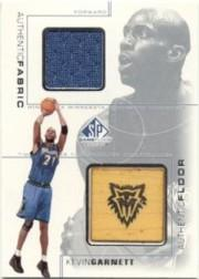 2000-01 SP Game Floor Authentic Fabric/Floor Combos #KGC Kevin Garnett