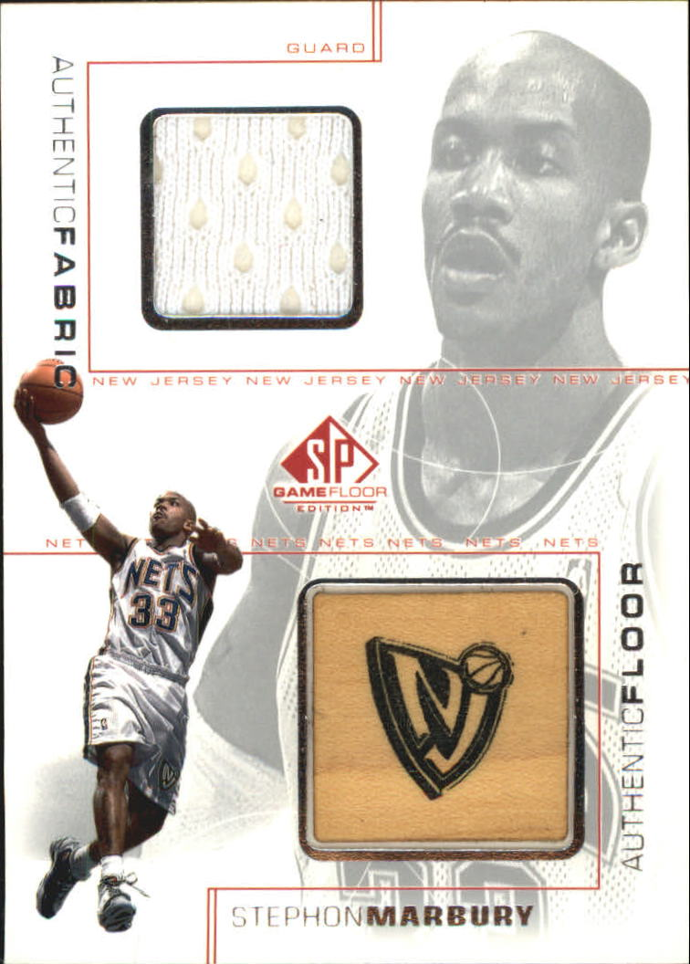 2000-01 SP Game Floor Authentic Fabric/Floor Combos #SMC Stephon Marbury