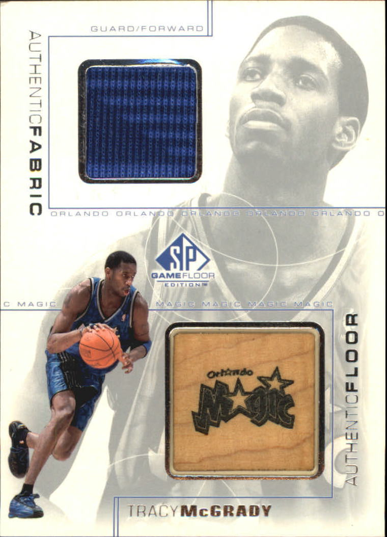 2000-01 SP Game Floor Authentic Fabric/Floor Combos #TMC Tracy McGrady