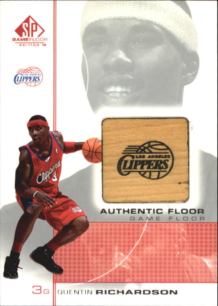 2000-01 SP Game Floor Authentic Floor #QR Quentin Richardson