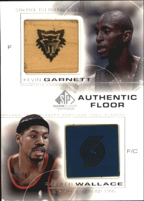 2000-01 SP Game Floor Authentic Floor Combos #C30 Kevin Garnett/Rasheed Wallace
