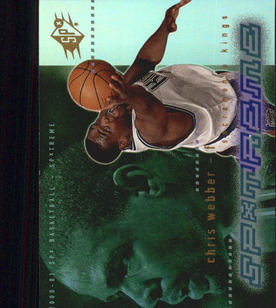 2000-01 SPx Spxtreme #X3 Chris Webber