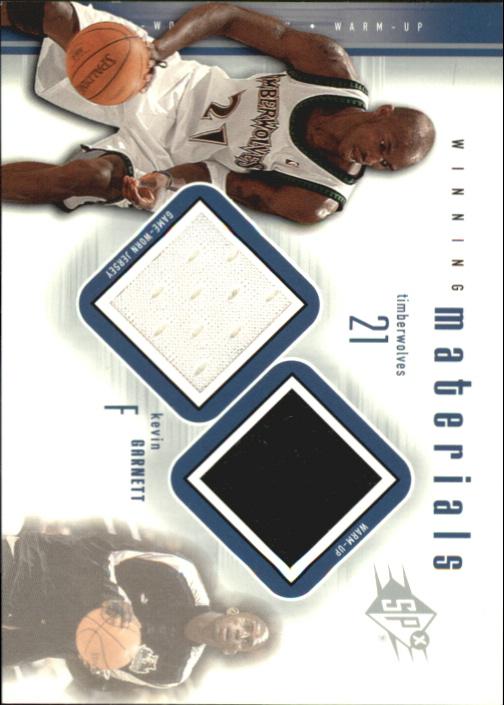 2000-01 SPx Winning Materials #KG1 Kevin Garnett JSY/WM