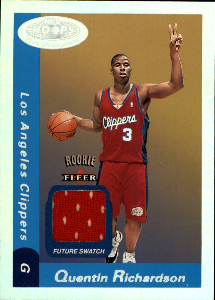 2000-01 Hoops Hot Prospects #131 Quentin Richardson JSY RC