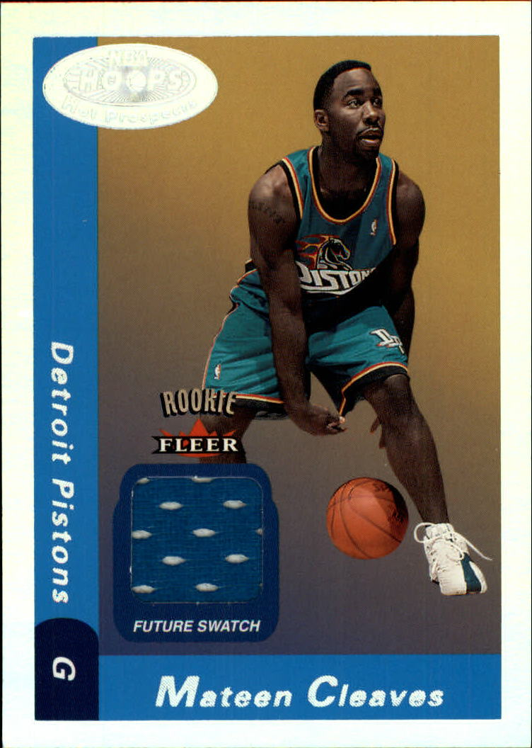 2000-01 Hoops Hot Prospects #136 Mateen Cleaves JSY RC
