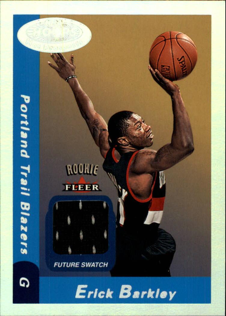 2000-01 Hoops Hot Prospects #139 Erick Barkley JSY RC