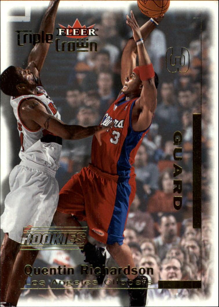 2000-01 Fleer Triple Crown #1 Quentin Richardson RC