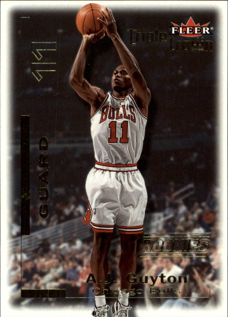 2000-01 Fleer Triple Crown #6 A.J. Guyton RC