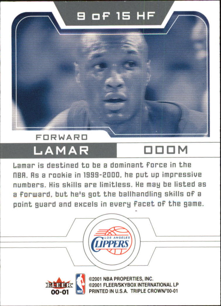 2000-01-Fleer-Triple-Crown-Heir-Force-01-Basketball-Cards-Pick-From-List