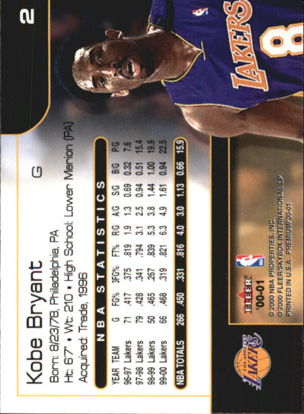 2000-01-Fleer-Premium-Basketball-Cards-Pick-From-List thumbnail 5