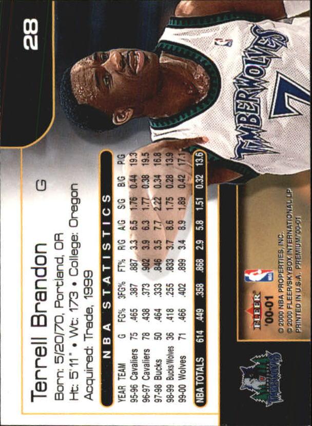 2000-01-Fleer-Premium-Basketball-Cards-Pick-From-List thumbnail 55