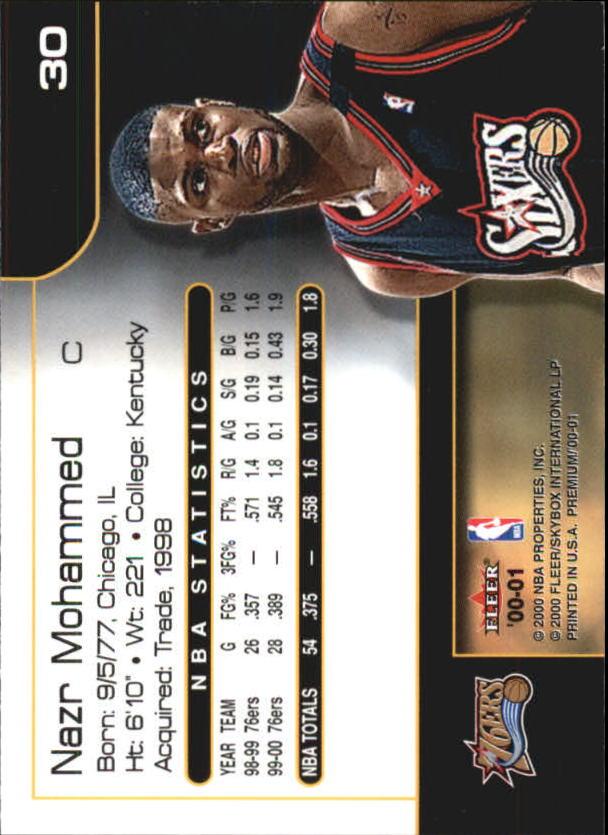 2000-01-Fleer-Premium-Basketball-Cards-Pick-From-List thumbnail 59