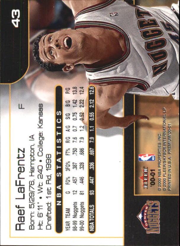 2000-01-Fleer-Premium-Basketball-Cards-Pick-From-List thumbnail 85