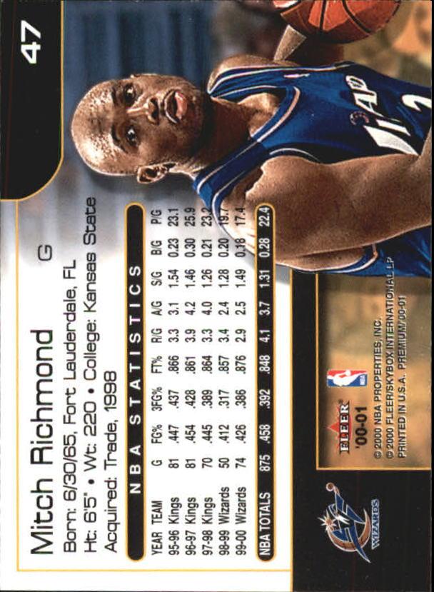 2000-01-Fleer-Premium-Basketball-Cards-Pick-From-List thumbnail 93