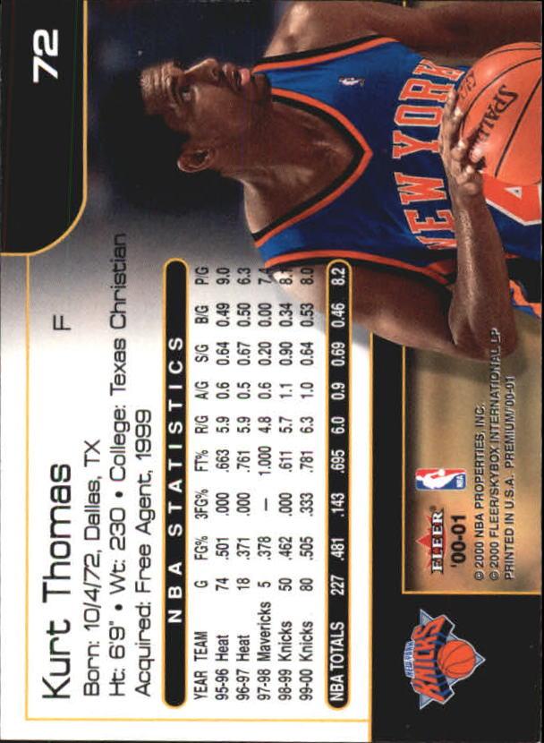 2000-01-Fleer-Premium-Basketball-Cards-Pick-From-List thumbnail 143