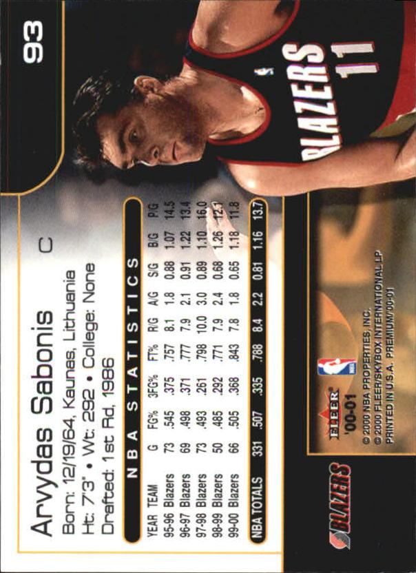 2000-01-Fleer-Premium-Basketball-Cards-Pick-From-List thumbnail 185