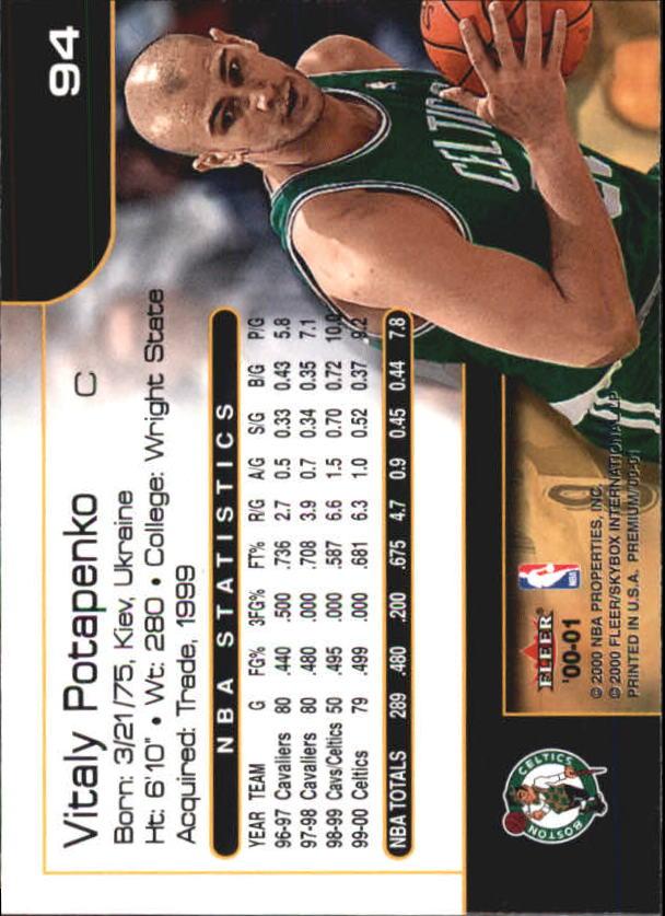 2000-01-Fleer-Premium-Basketball-Cards-Pick-From-List thumbnail 187