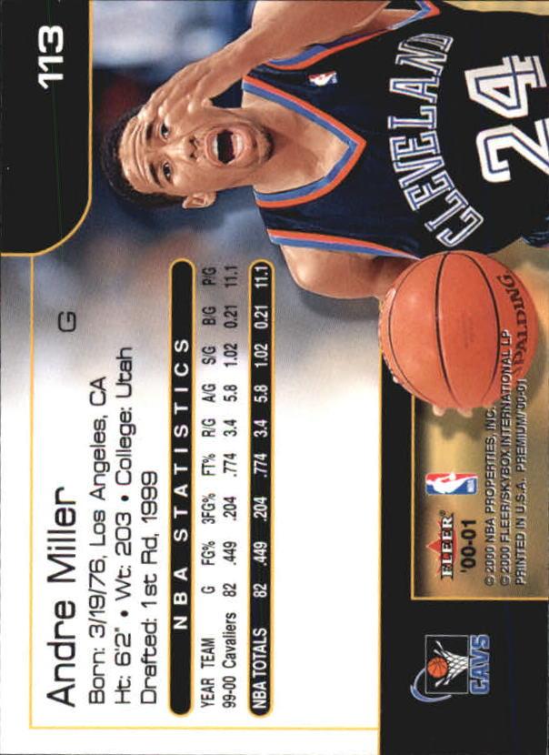 2000-01-Fleer-Premium-Basketball-Cards-Pick-From-List thumbnail 225