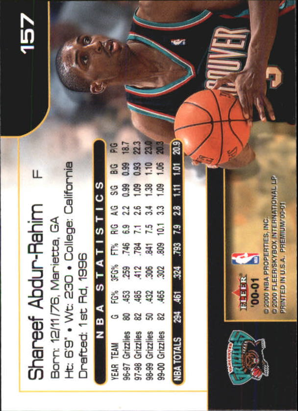 2000-01-Fleer-Premium-Basketball-Cards-Pick-From-List thumbnail 307