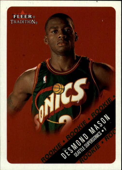 2000-01 Fleer Glossy #221 Desmond Mason RC