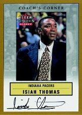 2000-01 Fleer Glossy Coach's Corner #4 Isiah Thomas