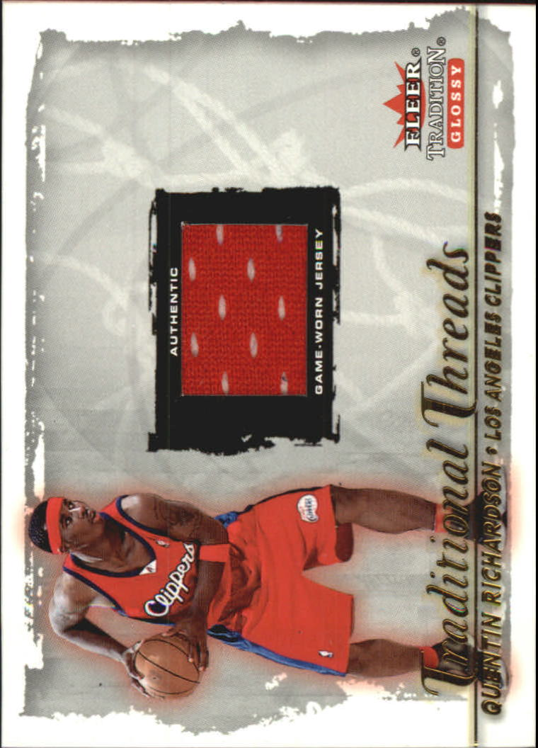 2000-01 Fleer Glossy Traditional Threads #29 Quentin Richardson