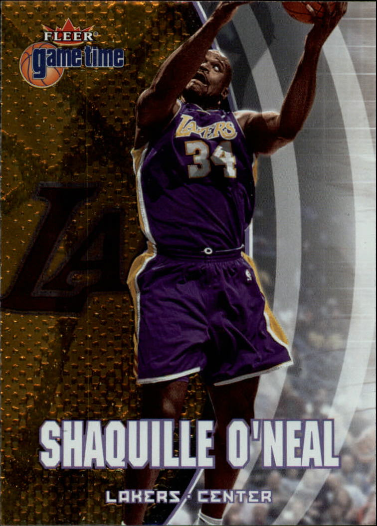 2000-01 Fleer Game Time #58 Shaquille O'Neal
