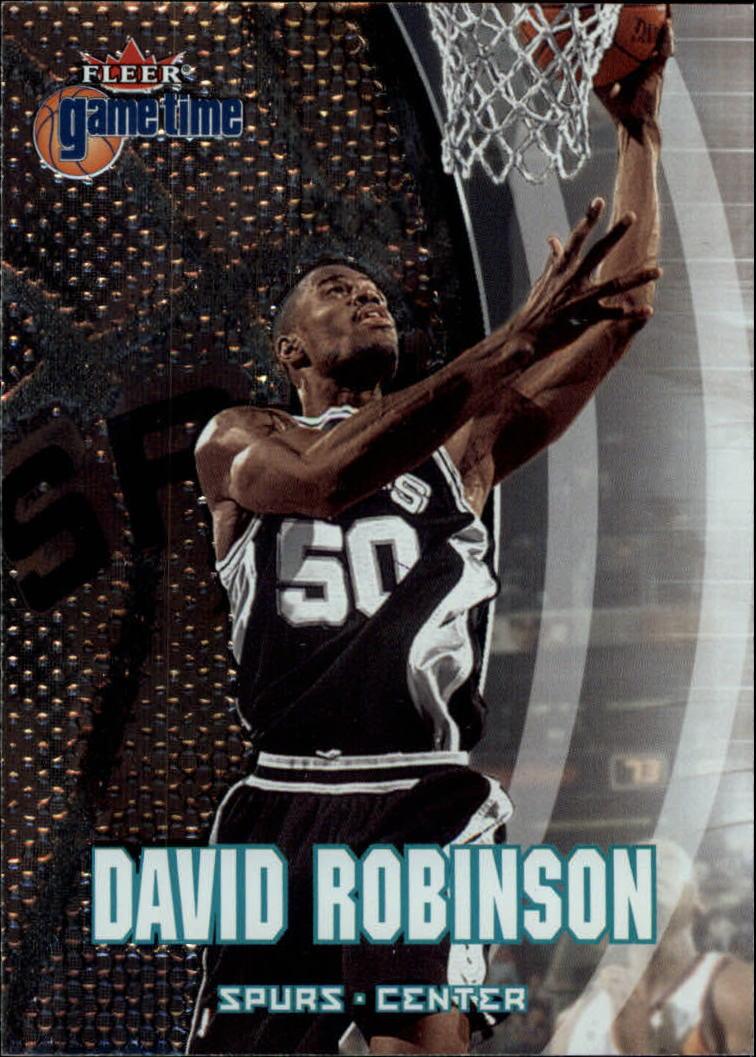 2000-01 Fleer Game Time #76 David Robinson