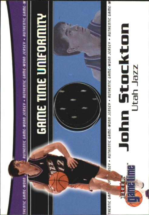 2000-01 Fleer Game Time Uniformity #18 John Stockton