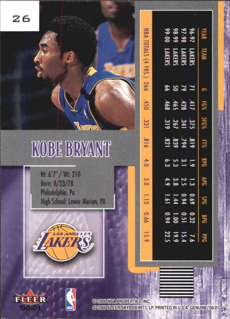 2000-01-Fleer-Genuine-Basketball-Cards-Pick-From-List thumbnail 3