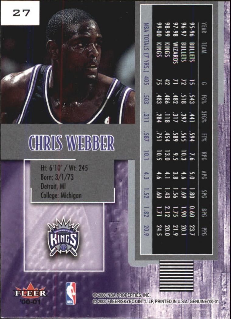2000-01-Fleer-Genuine-Basketball-Cards-Pick-From-List thumbnail 5