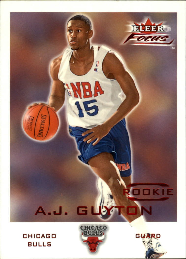 2000-01 Fleer Focus #197 A.J. Guyton C RC