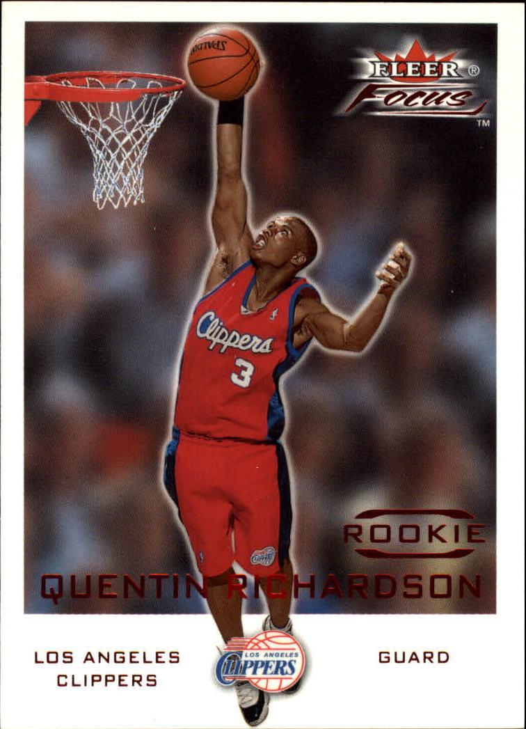 2000-01 Fleer Focus #206 Quentin Richardson E RC