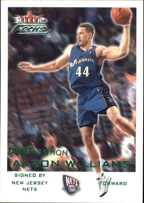 2000-01 Fleer Focus Draft Position #10 Aaron Williams/300