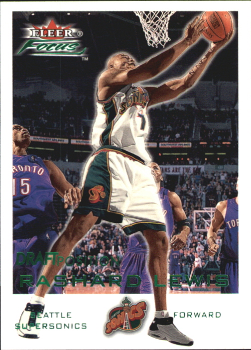 2000-01 Fleer Focus Draft Position #160 Rashard Lewis/200