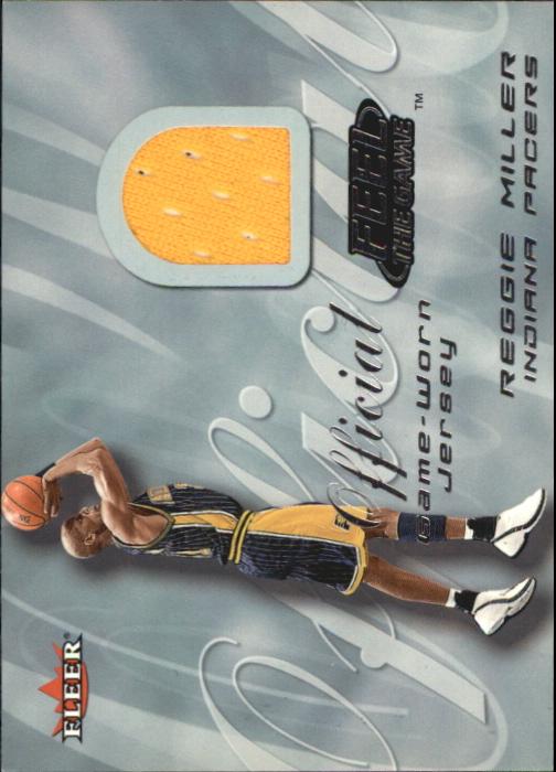 2000-01 Fleer Feel the Game #22 Reggie Miller