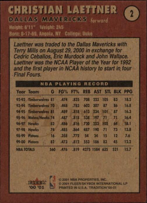 2000-01-Fleer-Basketball-Cards-Pick-From-List thumbnail 5