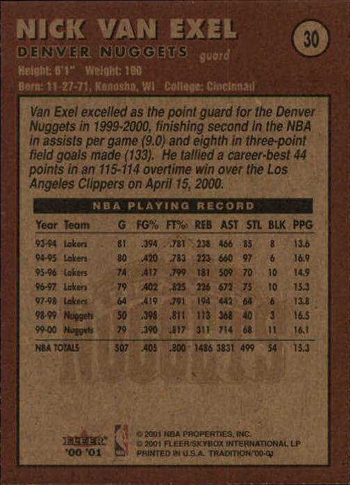 2000-01-Fleer-Basketball-Cards-Pick-From-List thumbnail 51
