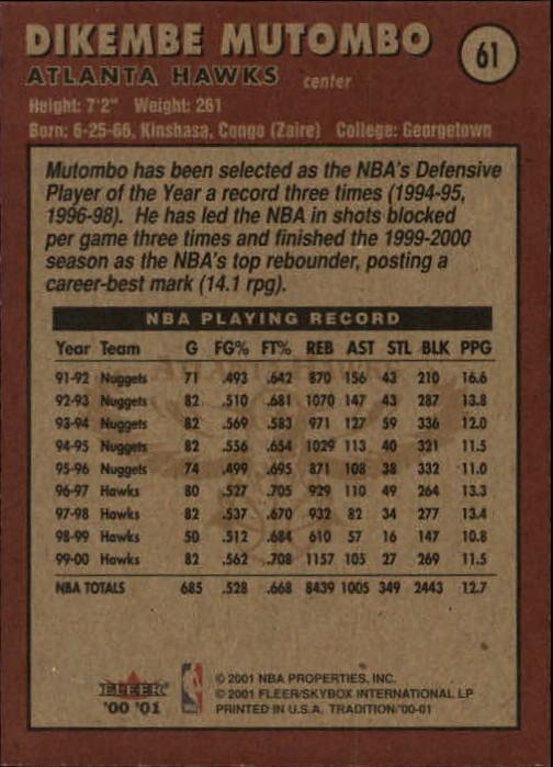 2000-01-Fleer-Basketball-Cards-Pick-From-List thumbnail 95