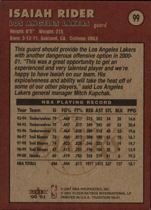 2000-01-Fleer-Basketball-Cards-Pick-From-List thumbnail 161